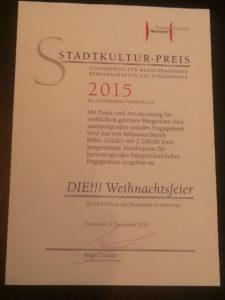Verleihung des Stadtkulturpreises der Stadt Hannover
